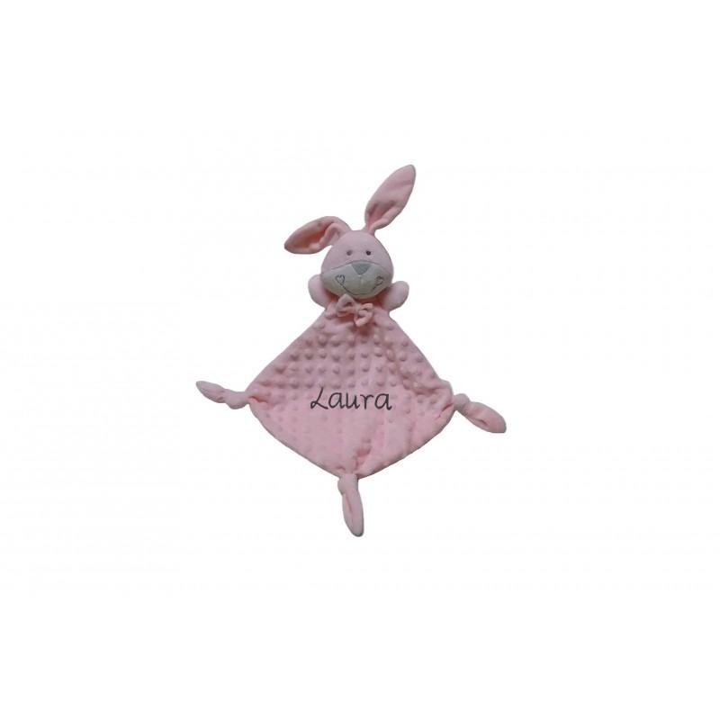 """DOUDOU Conejo rosa """"Personalizado"""""""